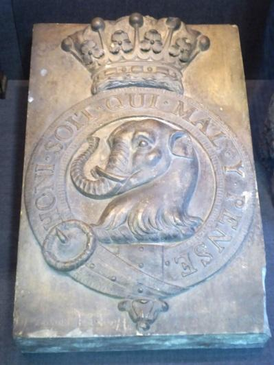 The crest from the demolished Paygate Cottage Seal Road. 1808 KW Sevenoaks Museum